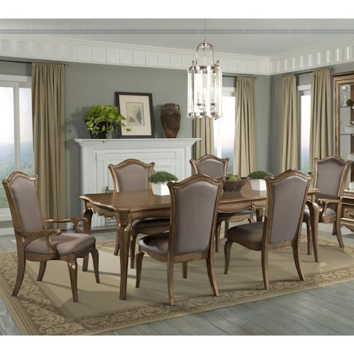 Homelegance Chambord 7 Piece Dining Set with Uphosltered Chairs