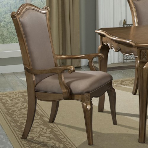 Homelegance Chambord Arm Chair with Faux Silk Upholstery