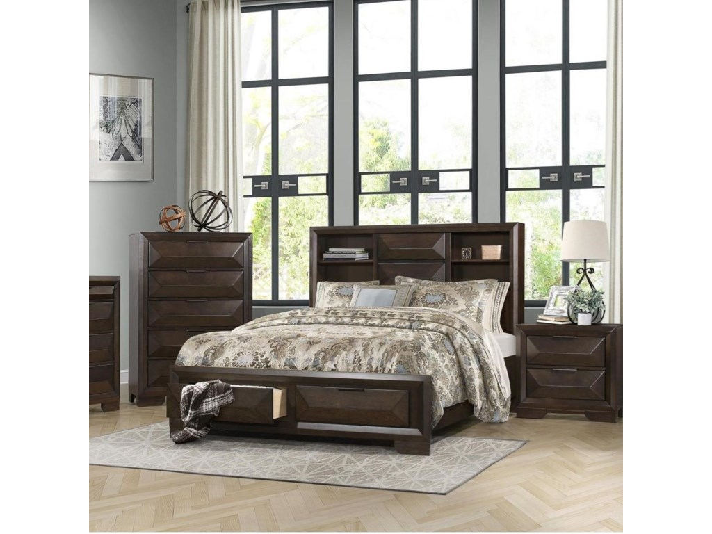 Homelegance CheskyQueen Bookcase Bed
