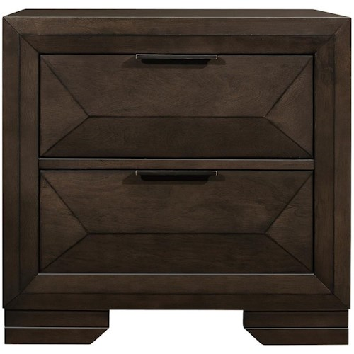 Homelegance Chesky Contemporary Two Drawer Night Stand