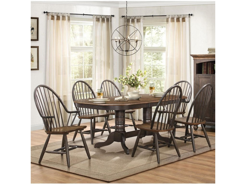 Homelegance Cline Transitional Dining Table and Chair Set with Two ...