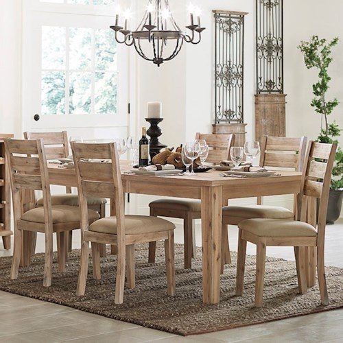 Homelegance Colmar Contemporary Table and Chair Set with Upholstered Seats