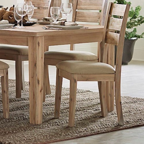 Homelegance Colmar Contemporary Dining Side Chair with Upholstered Seat