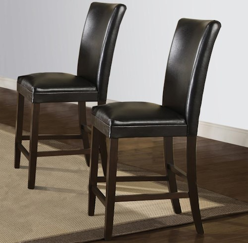 Homelegance Conlin Contemporary Counter Height Chair with Faux Leather Upholstery