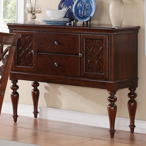 Homelegance Creswell Traditional Dining Server with Turned Legs