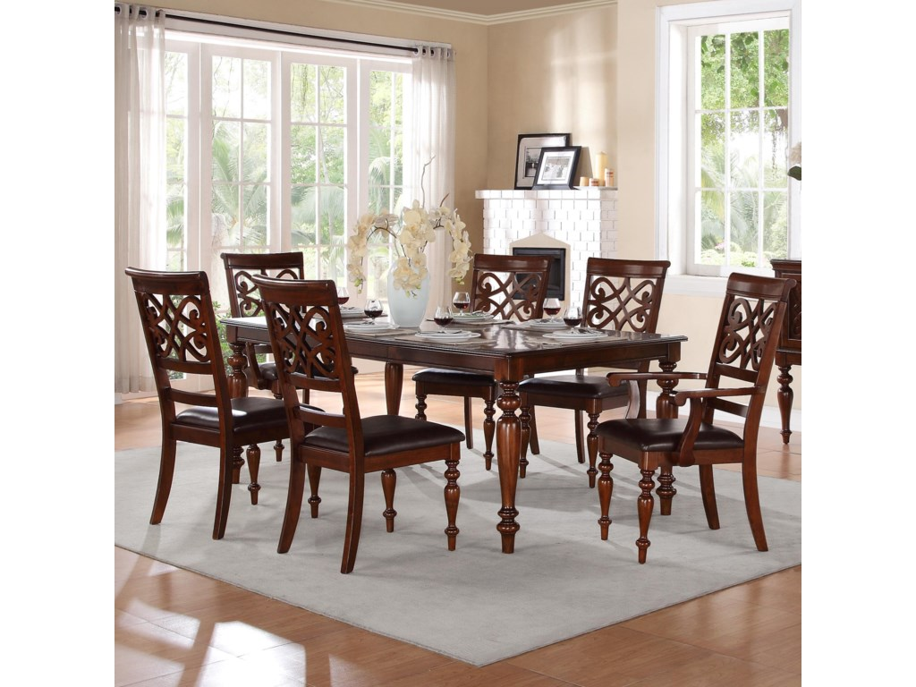 Homelegance CreswellTable and Chair Set
