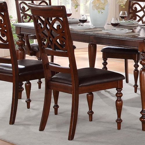 Homelegance Creswell Traditional Dining Side Chair with Turned Legs