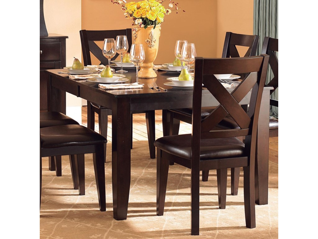 Homelegance Crown Point Transitional Dining Table With 18 Butterfly Leaf