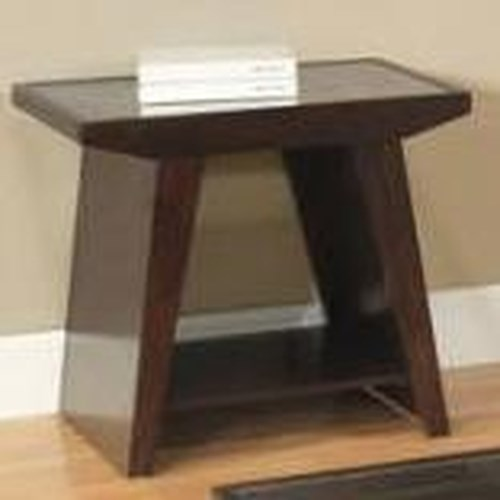 Homelegance Cullum  Modern End Table w/ Shelf
