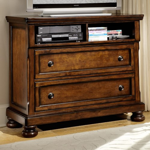 Homelegance Cumberland  Transitional TV Chest with 2 Drawers