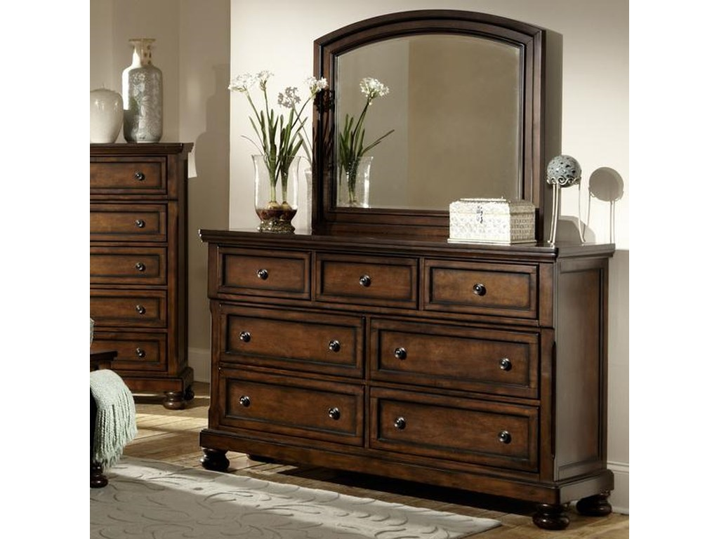 Homelegance Cumberland Dresser and Mirror