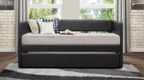 Homelegance Daybeds Contemporary Adra Daybed with Trundle Unit