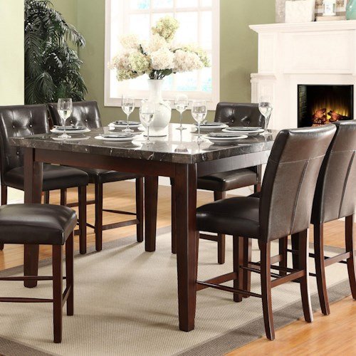 Homelegance Decatur Counter Height Dining Table with Marble Top