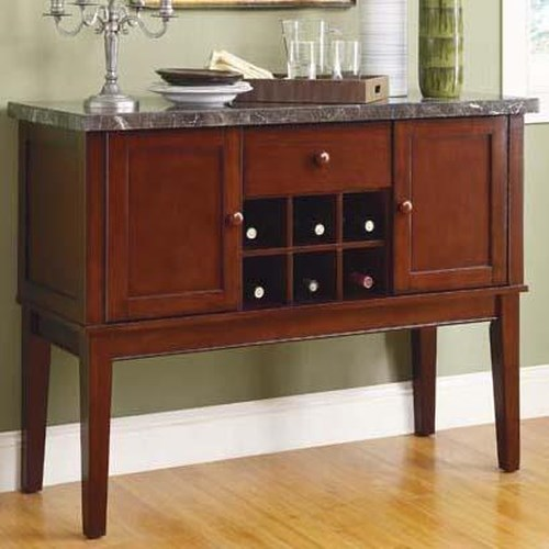 Homelegance Decatur Dining Server with Marble Top
