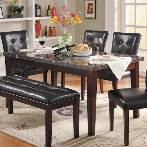 Homelegance Decatur Dining Table with Marble Top