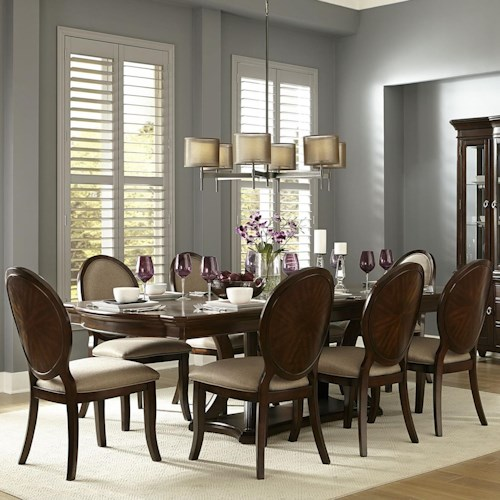 Homelegance Delavan Transitional Dining Table and Chair Set