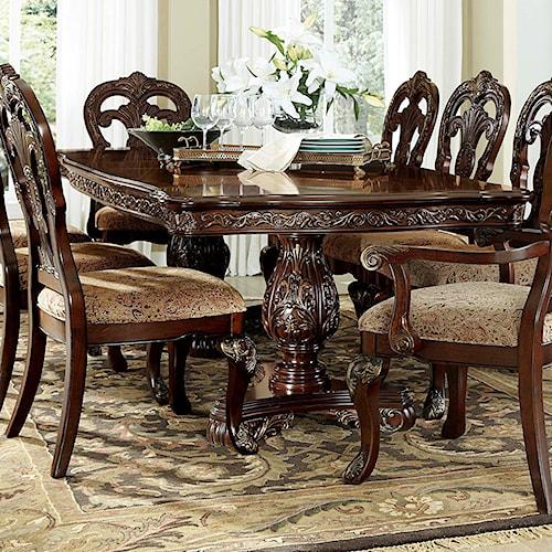 Orleans Ii White Wash Traditional Formal Dining Room: Homelegance Deryn Park Traditional Formal Rectangular