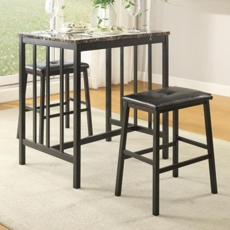3-Piece Table & Chair Set