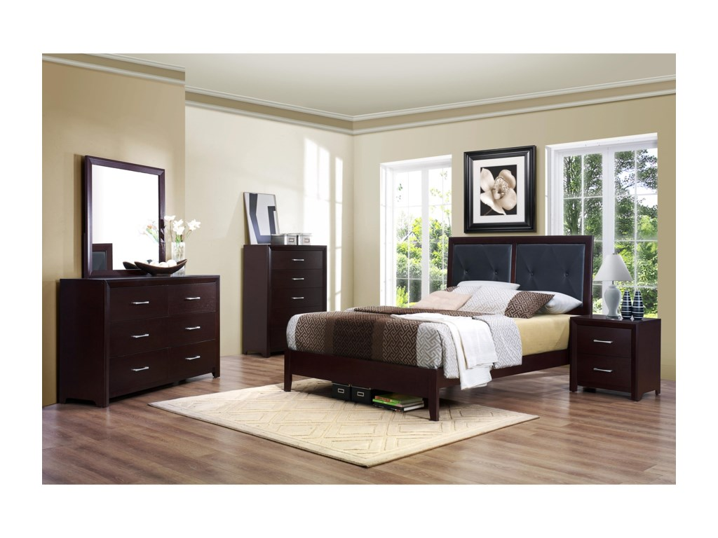 Homelegance EdinaQueen Bedroom Group without Chest