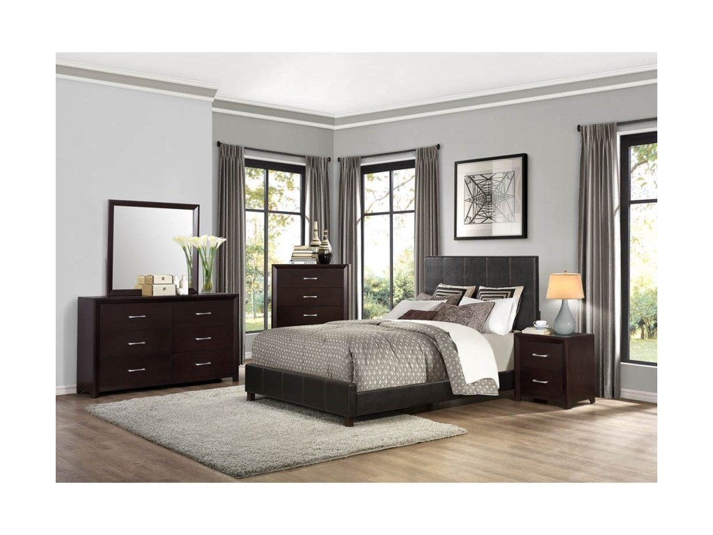 Homelegance EdinaQueen Bedroom Group