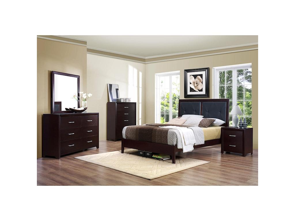 Homelegance EdinaKing Panel Bed