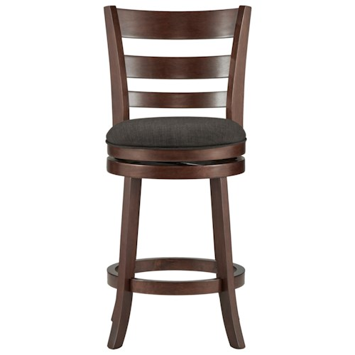 Homelegance Edmond Counter Height Swivel Stool with Upholstered Seat