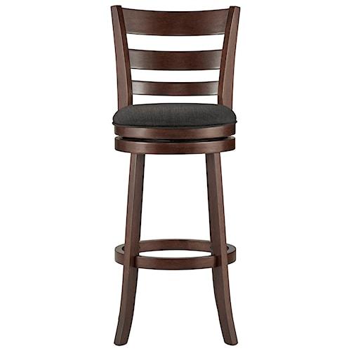 Homelegance Edmond Swivel Bar Stool with Upholstered Seat