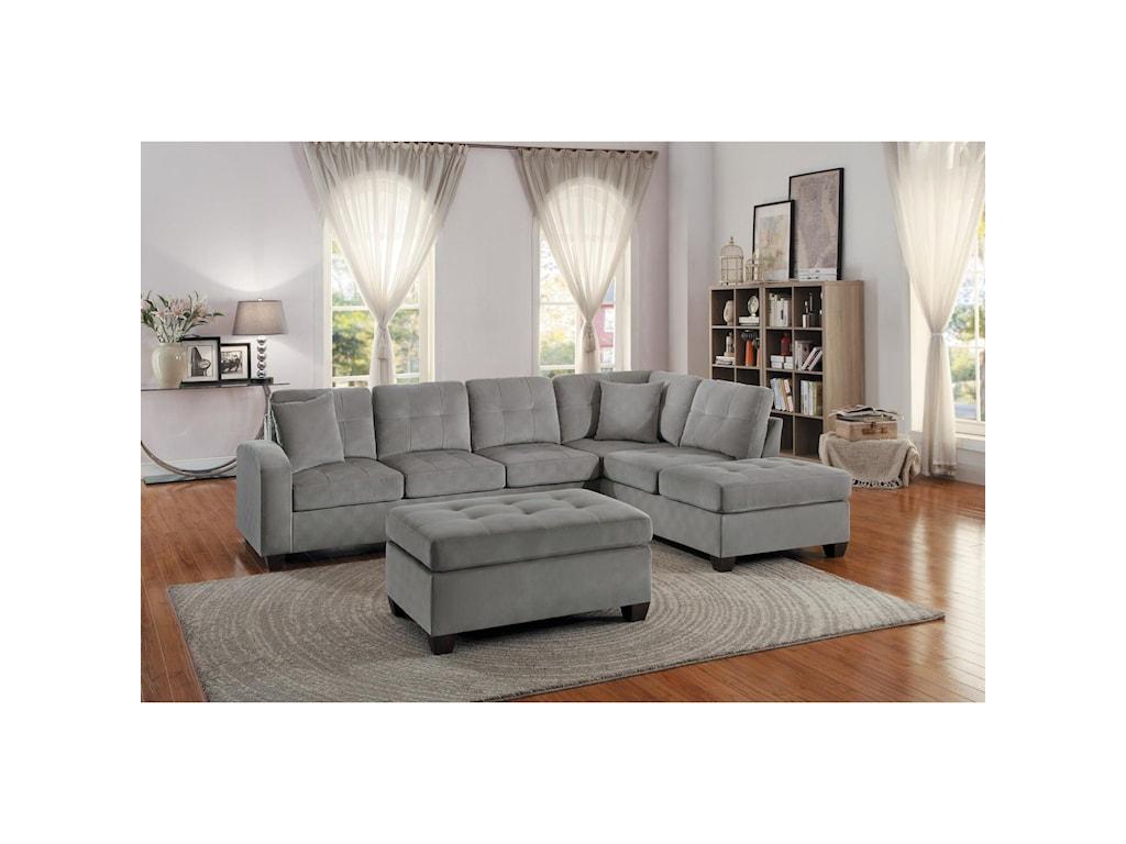 Homelegance EmilioStationary Living Room Group