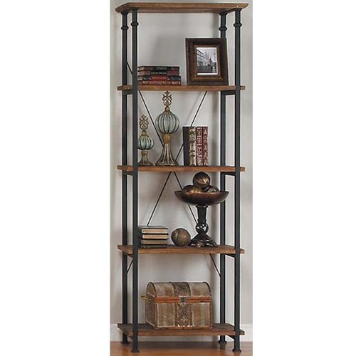 Homelegance Factory Collection Bookcase with 4 Shelves