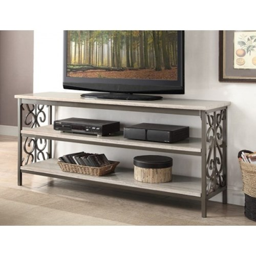 Homelegance Fairhope Transitional  TV Stand with Faux Marble