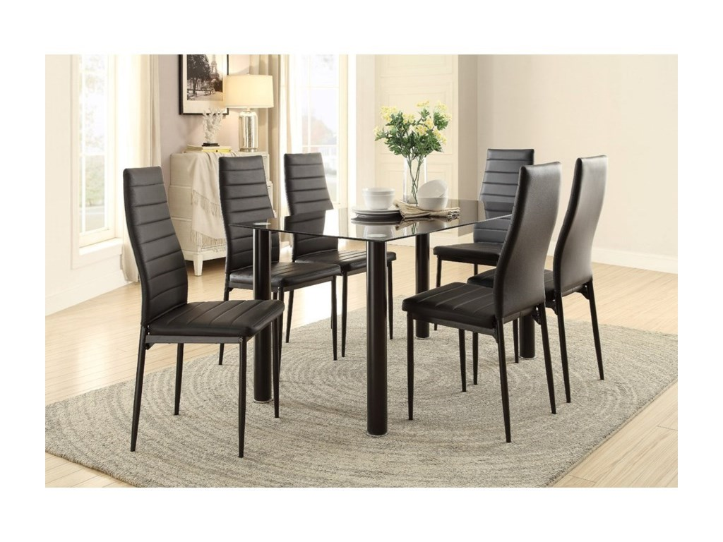 Homelegance FlorianSeven Piece Dining Set