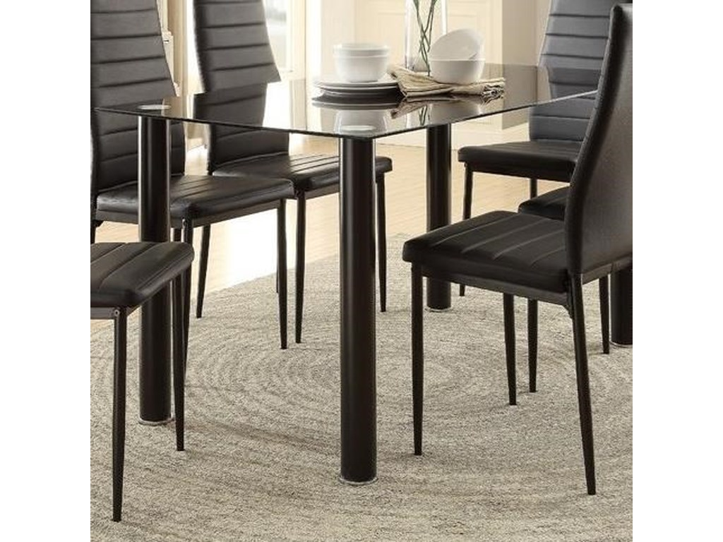 Homelegance Florian Contemporary Dining Table with Black ...