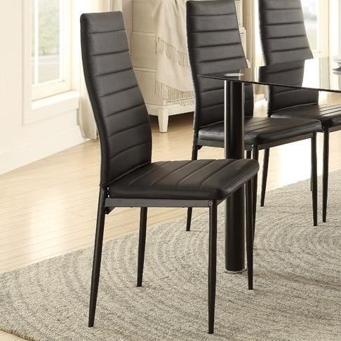 Contemporary Side Chair with Bi-Cast Vinyl Upholstery