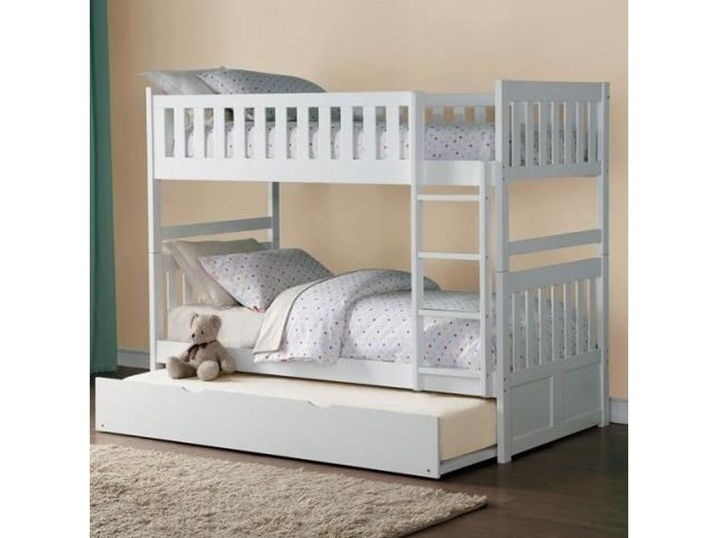 Homelegance GalenFull Over Full Bunk Bed with Trundle