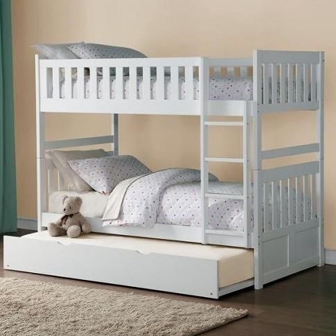 Homelegance Galen Full Over Full Bunk Bed with Trundle