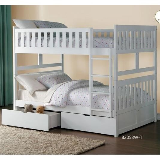 Homelegance GalenFull Over Full Bunk Bed with Storage