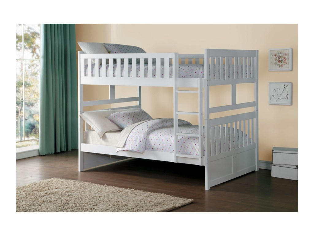 Home Style WhiteFull Over Full Bunk Bed