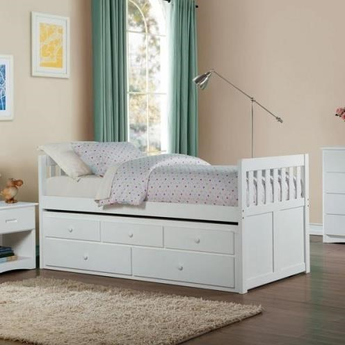 Homelegance (Clackamas Only) Galen Twin Captainu0027s Bed With Trundle And  Storage