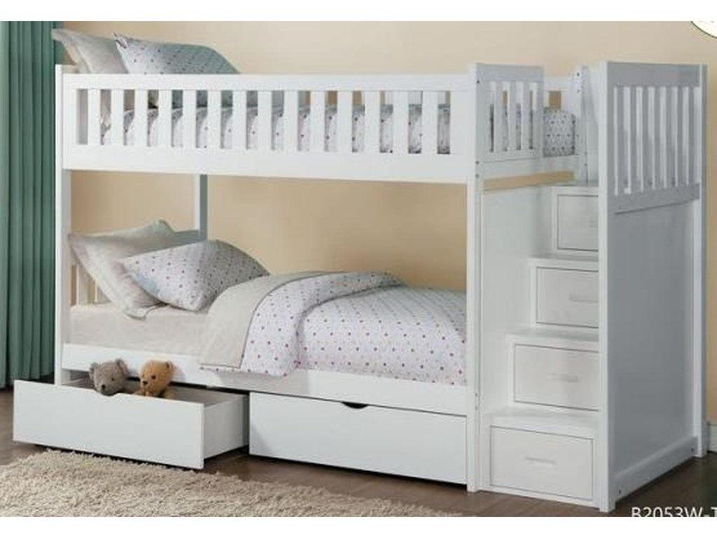 hot sales b22d5 bda14 Galen Twin Over Twin Storage Bunk Bed with Storage Drawers by Homelegance  at Darvin Furniture