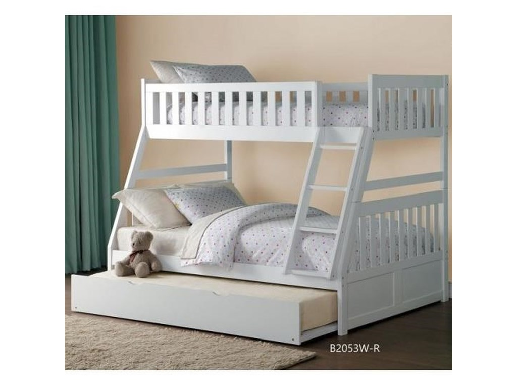 Galen Twin Over Full Bunk Bed With Trundle By Homelegance