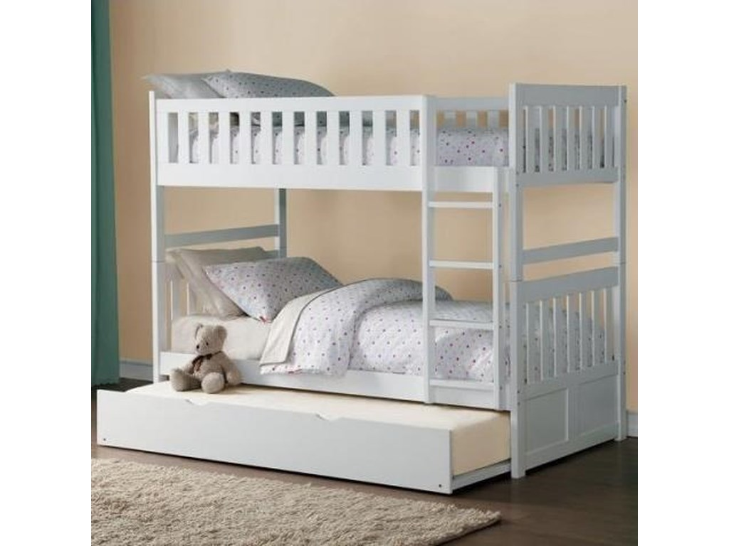 Homelegance Galen Twin Over Twin Bunk Bed With Trundle Darvin
