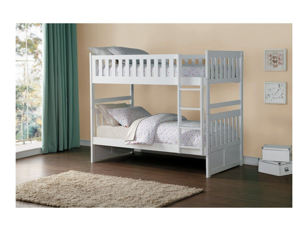 Homelegance GalenTwin Over Twin Bunk Bed