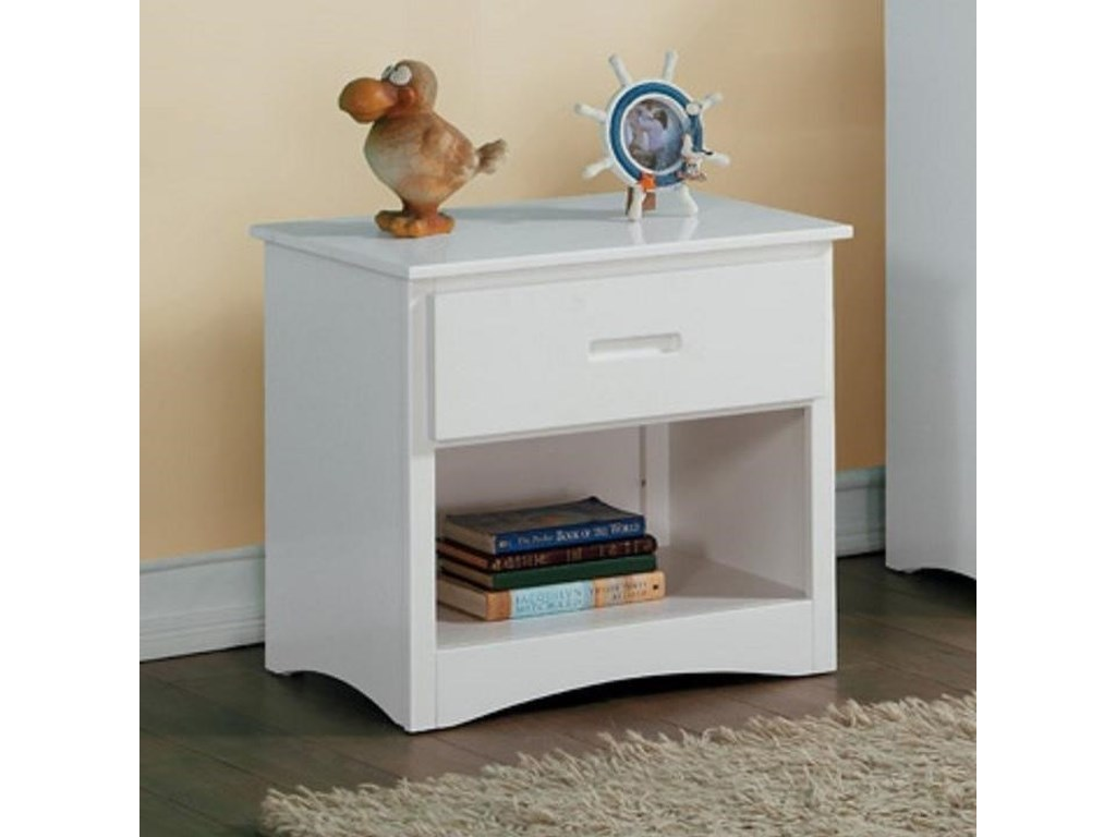 Home Style WhiteYouth Night Stand