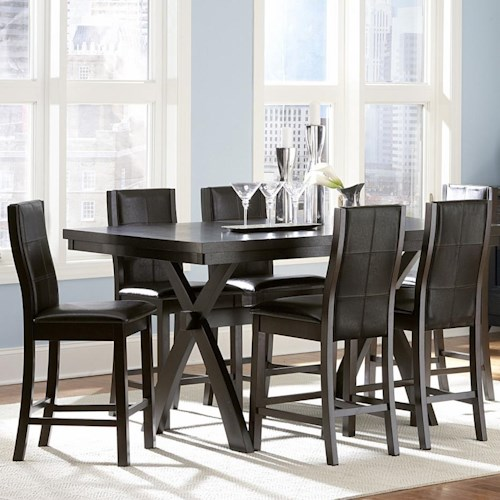 Homelegance Sherman 7 Piece Counter Height Table & Chair Set