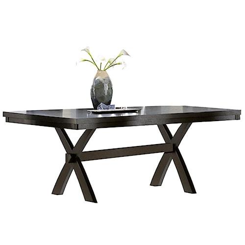 Homelegance Sherman Rectangular Dining Table with Trestle
