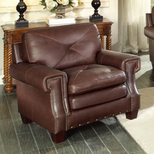 Homelegance GreermontTraditional Leather Arm Chair