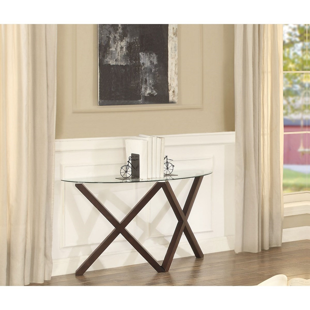 Homelegance Halston 2952 05 Contemporary Sofa Table With