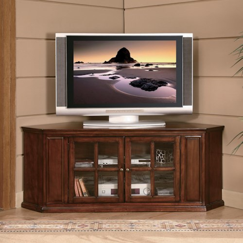 Homelegance Hayden Transitional TV Stand with Glass Doorfronts