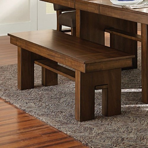 Homelegance (Clackamas Only) Hedley Contemporary Dining Bench with Cut-away Design