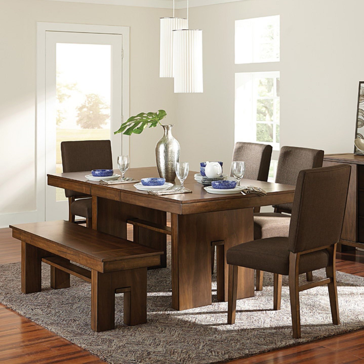 Sedley Table And Chair Set With Bench
